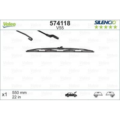 VALEO V55 550MM X1 SILENCIO CONVENCIONAL - 574118 - AUDI 100 (4A,C4) Avant Break 12/90-07/94
