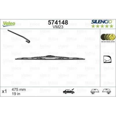 VALEO VM23 475MM X1 SILENCIO CONVENCIONAL - 574148 - SEAT Arosa 03/97-02/99