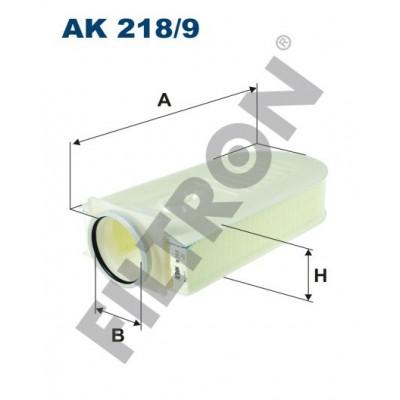 Filtro de Aire Filtron AK218/9 Mercedes C (W204), S (W221), SLK (R172), ML (W166)