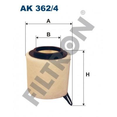 Filtro de Aire Filtron AK362/4 BMW Serie 1 (E81/E82/E87/E88), Serie 3 (E90/E91/E92/E93), Serie X1 (E84)