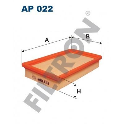 Filtro de Aire Filtron AP022 Fiat Cinquecento, Panda, Seicento, Uno, Uno (PL)