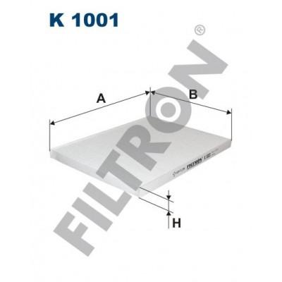 Filtro de Habitáculo Filtron K1001 Opel Omega B, Vauxhall Omega B