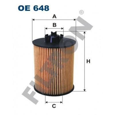 Filtro de Aceite Filtron OE648 Opel Agila, Astra Classic II, Astra G (Astra II), Astra H (Astra III), Corsa B/C/D, Meriva A