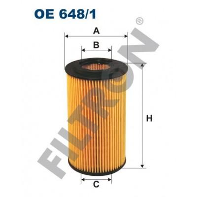 Filtro de Aceite Filtron OE648/1 Opel Astra G (Astra II), Frontera B, Omega B, Signum, Sintra, Vectra B/C, Zafira I