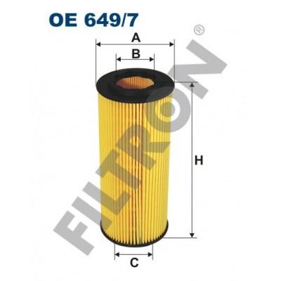 Filtro de Aceite Filtron OE649/7 BMW Serie 1 (E81/E82/E87/E88), Serie 3 (E46), Serie 3 (E90/E91/E92/E93), Serie 5 (E60/E61)