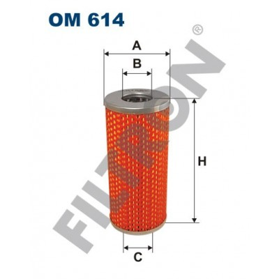 Filtro de Aceite Filtron OM614 Timberjack 100, Moskvitch 412, 427,434,1500, Wo?ga (Gaz) Gaz 21/24