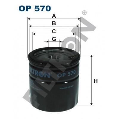 Filtro de Aceite Filtron OP570 Bedford, Cadillac, Chevrolet, Daewoo, Lada, Opel, Zaz (3A3)