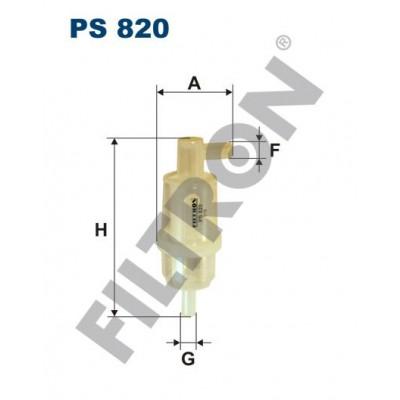 Filtro de Combustible Filtron PS820 Evobus, John Deere, Mercedes Unimog, , Mercedes 200, 220, 240, 250, 290, 300, 350