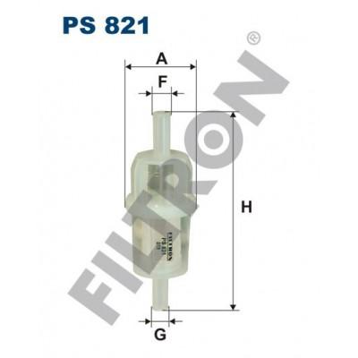 Filtro de Combustible Filtron PS821 Ahlmann AF, AL, AS, Claas-Combines Ares, Celtis, Krieger Traktoren K, Mercedes 190, 200