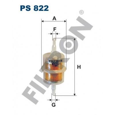 Filtro de Combustible Filtron PS822 Alfa Romeo, Audi, Citroën, Daewoo-FS Lublin, Daihatsu, Fiat, Ford, FSO, Isuzu, Lada, Lancia