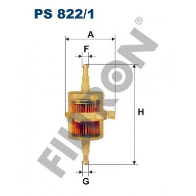 Filtro de Combustible Filtron PS822/1 Fiat 126