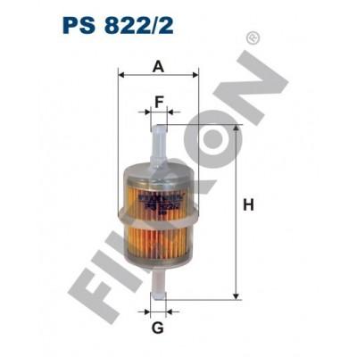 Filtro de Combustible Filtron PS822/2 Fiat Cinquecento