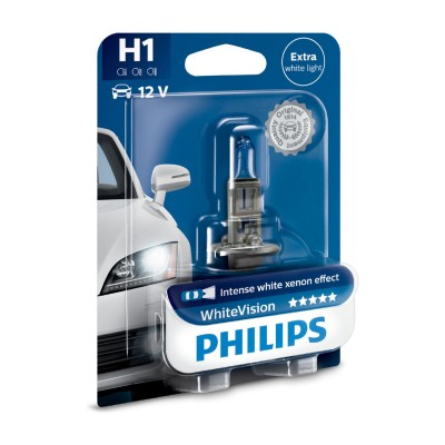 SET H1 WHITE VISION PHILIPS - 12258WHVB1