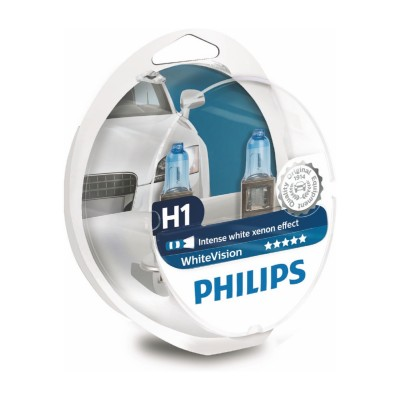 SET H1 WHITE VISION PHILIPS - 12258WHVSM