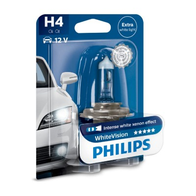 SET H4 WHITE VISION PHILIPS - 12342WHVB1