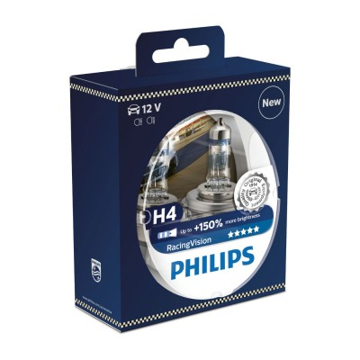 SET H4+150% RACING VISION PHILIPS - 12342RVS2