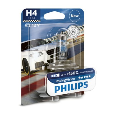 SET H4+150% RACING VISION PHILIPS - 12342RVB1