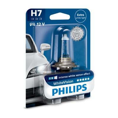 SET H7 WHITE VISION PHILIPS - 12972WHVB1