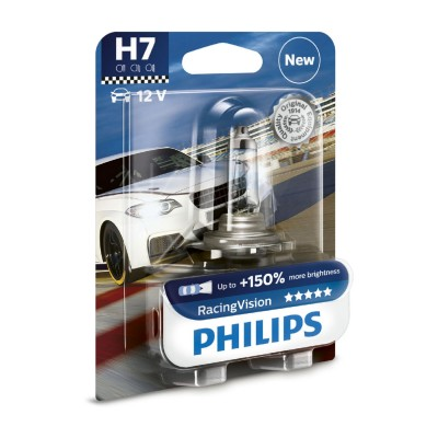 SET H7+150% RACING VISION PHILIPS - 12972RVB1